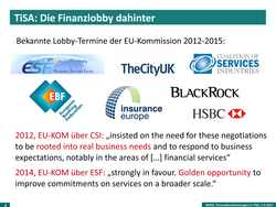 Präsentation: Wie geht's weiter mit TiSA und den Finanzdienstleistungen?