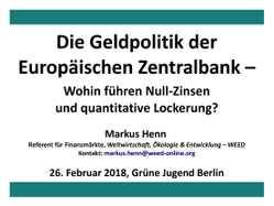 Präsentation: Die Geldpolitik der EZB