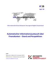 Infobrief: Automatischer Informationsaustausch über Finanzkonten