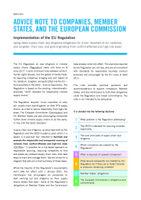 Empfehlungen zur Umsetzung der EU-Konfliktmineralienverordnung