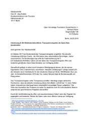 Transparenzregister als Open Data bereitstellen