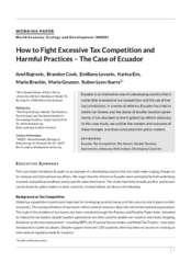 Working Paper: How to Fight Excessive Tax Competition and Harmful Practices - The Case of Ecuador