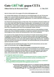 Offener Brief an die hessischen Grünen gegen CETA