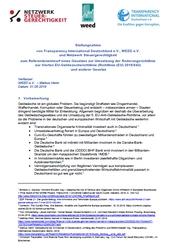 Stellungnahme zum Geldwäschegesetz