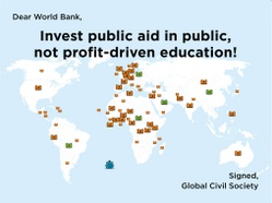 Open letter to World Bank for public and free education