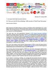 Brief gegen Öffentlich-Private Partnerschaften (ÖPP)