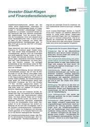 Hintergrund: Investor-Staat-Klagen und Finanzdienstleistungen