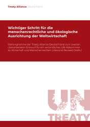 Stellungnahme zum 2. Entwurf des UN-Abkommens zu Wirtschaft und Menschenrechten