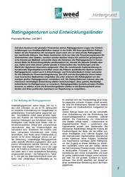 """WEED-Hintergrund """"Ratingagenturen und Entwicklungsländer"""""""