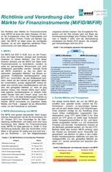Faktenblatt: Richtlinie und Verordnung über Märkte zu Finanzinstrumenten