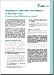 Finanztransaktionssteuer nach der EU-Finanzministertagung