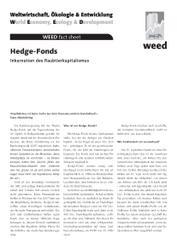 WEED-Factsheets zum G8-Gipfel in Heiligendamm erschienen