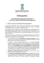 Stellungnahme zum SPD-Programm 2013-2017