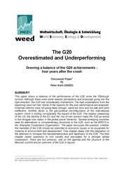 G20 balance - overestimated and underperforming