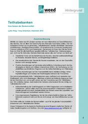 Teilhabebanken - Vom Nutzen der Bankenvielfalt