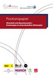 Positionspapier: Wirtschaft und Menschenrechte