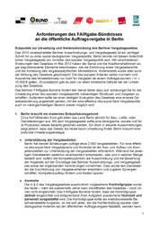 Außer Kontrolle - mangelhafte Umsetzung öko-fairer Beschaffung in Berlin