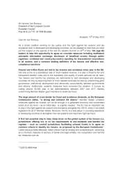 Letter to Council President Van Rompuy on Tax Evasion