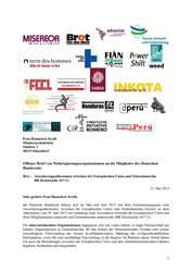 Offener Brief zum  Assoziierungsabkommen EU-Zentralamerika