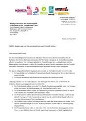Brief zu Nahrungsmittelspekulation an deutschen Vertreter in Brüssel