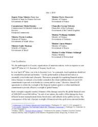 Letter to G20 on cross-border derivatives regulation
