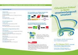 Öffentlichen Einkauf in Berlin verantwortungsvoll umsetzen