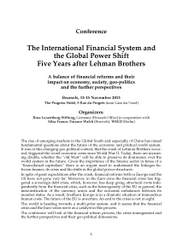 Conference: The International Financial System and the Global Power Shift Five Years after Lehman Brothers