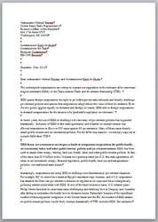 Letter on Investor-State Dispute Settlement in TTIP