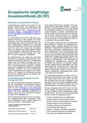 Infoblatt: Europäische langfristige Investmentfonds (ELTIF)