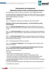 """Dokumentation Fachgespräch """"Öffentlichen Einkauf in Berlin verantwortungsvoll umsetzen"""""""