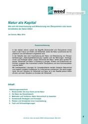 Hintergrundpapier: Natur als Kapital
