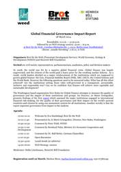 Roundtable: Global Financial Governance Impact Report