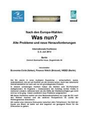 Konferenz: Nach den Europa-Wahlen: Was nun? Alte Probleme und neue Herausforderungen