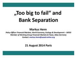 Präsentation zur Bankentrennung