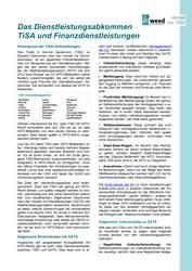 Infoblatt: Das Dienstleistungsabkommen TiSA und Finanzdienstleistungen