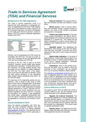 Fact sheet: Trade in Services Agreement (TiSA) and Financial Services