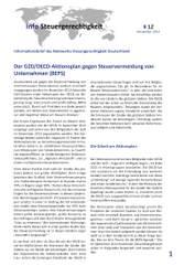 Info Steuergerechtigkeit: Der G20/OECD-Aktionsplan gegen Steuervermeidung von Unternehmen (BEPS)