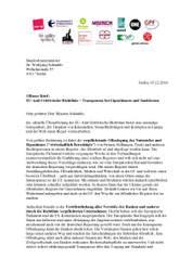 Offener Brief: EU-Anti-Geldwäsche-Richtlinie