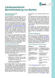 Infoblatt: Länderspezifische Berichterstattung von Banken