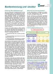 Infoblatt: Bankentrennung und -struktur