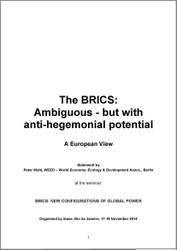 Paper: A European View on BRICS