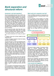 Fact sheet: Bank separation and structural reform