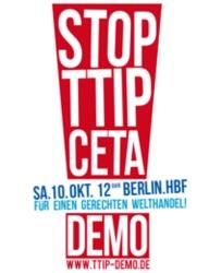 Demo: TTIP & CETA stoppen! - Für einen gerechten Welthandel