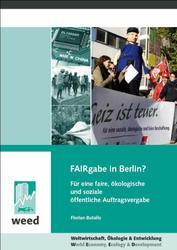 Neue Broschüre: FAIRgabe in Berlin?
