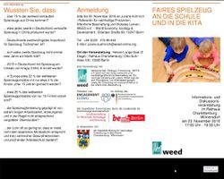 Veranstaltung Faires Spielzeug an die Schule und in die Kita