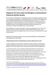 Wegweiser für einen sozial und ökologisch verantwortlichen Einkauf der Berliner Bezirke